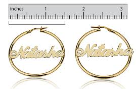 Name Hoop Earrings 18k Gold Plated Hoop Earrings Jewelry Persjewel