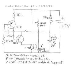 Transformer Coupled Transistor Amplifier Schematic Joule Thief
