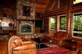 Cabin Themed Decor Furniture Magnificent Log Cabin Interiors For Living Room Sets