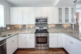 backsplash ideas for white kitchens gray subway tile backsplash liking the grey studio kitchens white