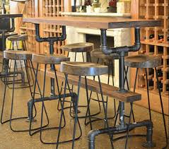 Retro Bar Table American Loft Retro Style Bar Tables Bar Chairs Wrought Iron Pipe
