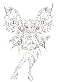 coloring pages for kids safari bloom winx club bloom cartoons winx