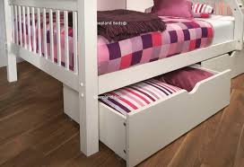 Signature Pavo White Wooden Double Bunk Bed Single And Ft Double - Small single bunk beds