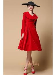 vintage elegant red velvet 1950s dress devilnight co uk