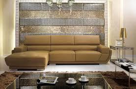 k8300 modern camel italian leather sectional sofa