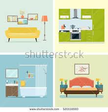 living room interior design furniture sofa stock vector 529549399