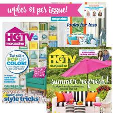 hgtv magazine for less than 10 per year