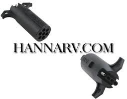 pollak 12 742ev 7 way round pin to 4 way flat connector adapter rv