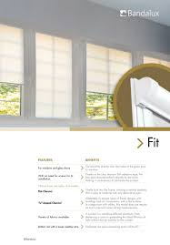 fit and fit pleat blinds bandalux industrial sa pdf catalogues
