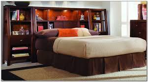 Bedroom Headboard King Size Platform With Lighted Cabinet