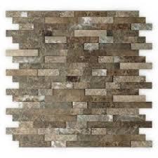 Backsplash Tile For Kitchen by 10sf Rustic Copper Linear Natural Slate Blend Mosaic Tile Kitchen