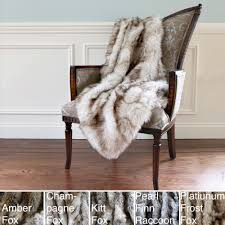 Furry Blanket Furniture Luxury Grey Furry Faux Fur Throws
