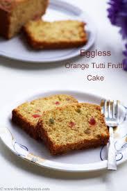 eggless orange tutti frutti cake recipe vegan orange fruit cake