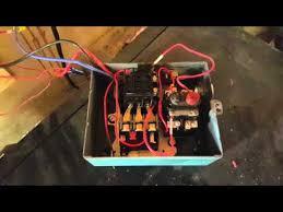 start stop 3 phase motor starter works youtube
