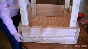 How To Build A Platform Bed With Legs by How To Make An Elevated Garden Box Youtube
