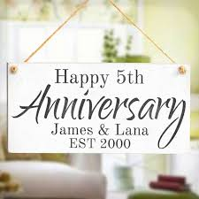 wedding anniversary plaques happy anniversary personalised any year wedding sign s