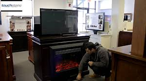 Bedroom Furniture Tv Lift Touchstone Conestoga Tv Lift Cabinet With Electric Fireplace Youtube