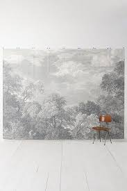 etched arcadia mural wallpaper anthropologie
