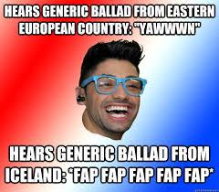 Gayest Meme Ever - sweden 2013 gayest esc ever stupid eurovision fan quickmeme