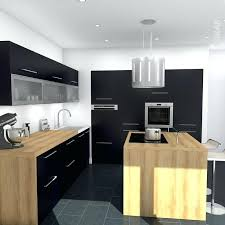 cuisine noir bois cuisine noir mat et bois e plan de travail meonho info