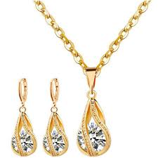 gold pendant necklace set images Gold pendant jewelry set ladies fashion jewelry breeeazy love shop jpg