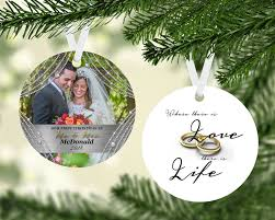 personalized wedding ornament wedding ornaments couples gift mr