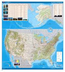Us Maps With States And Cities by Large Detailed Relief Administrative And Political Map Of The Usa