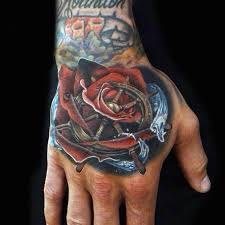 rose hand tattoo male best 25 mens hand tattoos ideas on
