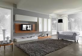 Modular Wall Units Living Room Splendid Living Room With Gray Wall Treatment And