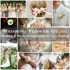 wedding flowers guide printable wedding flower checklist