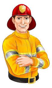 fireman cartoon stock vector image 43774290