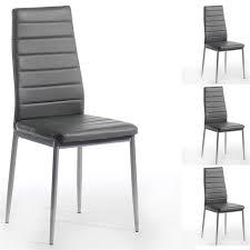 lot de 4 chaises de salle à manger nathalie gris achat vente