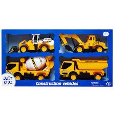 just kidz 4 pk construction vehicles