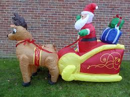 plastic santa sleigh and reindeer outdoor decoration outdoor designs
