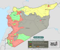 Syria Map by Syria Situation Map 22 February 2017 Sharq Forum