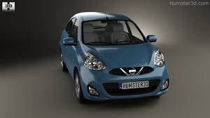 nissan micra 2014 360 view of nissan micra 2014 3d model hum3d store