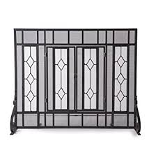 Free Standing Fireplace Screens by Amazon Com Plow U0026 Hearth Small Diamond Fireplace Screen With