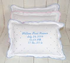 personalized pillows for baby personalized baby birth announcement pillow baby be hip