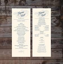 customized wedding programs printed wedding programs wedding ceremony programs formal