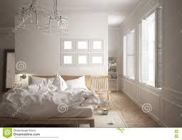 scandinavian minimal bedroom stock illustration image 78435600