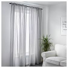 Should Curtains Touch The Floor Or Window Sill Gulsporre Curtains 1 Pair White Grey 145x250 Cm Gray And Lights