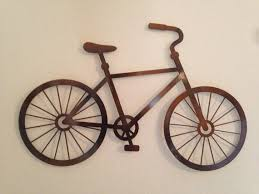 Cycling Home Decor Bicycle Metal Wall Metal Bronze Bicycle By Inspiremetals