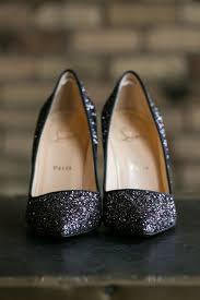 sparkly christian louboutin wedding heels