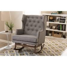 Modern Wooden Rocking Chair Abbyson Bluestone Rocking Arm Chair Hayneedle