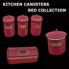second life marketplace kitchen canisters red collection
