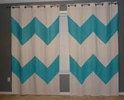 Chevron Pattern Curtains Diy Painted Chevron Curtains And Orange Accents U2022 The Mix