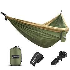 amazon com ecoopro double camping hammock lightweight