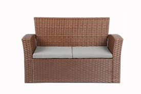 Deep Seating Patio Furniture Covers - zipcode design charmain 4 piece deep seating group with cushion