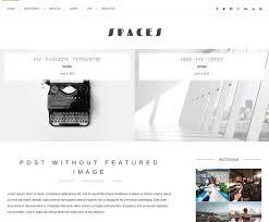 spaces blog wordpress theme blog templates free wordpress