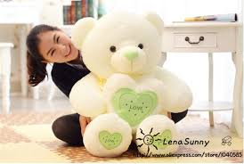 big bears for valentines day 60 cm big teddy plush toys with heart lover gift for
